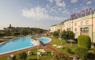 Tuin van Hotel Alcora in Sevilla