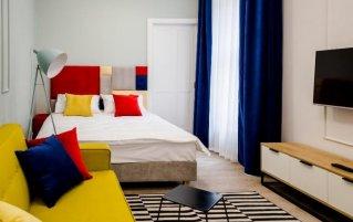 Tweepersoonskamer van appartementen Habitan Krakau