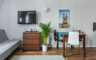 Woonkamer van appartementen van Appartementen Apartwawel in Krakau