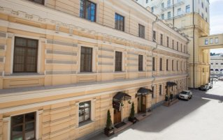 Gebouw van Hotel Matreshka in Moskou