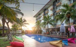 Tuin van hotel Seminyak Garden Bali