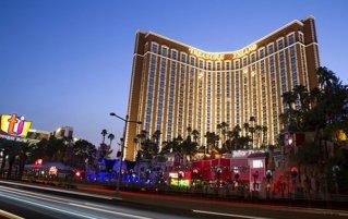 Vooraanzicht van hotel Treasure Island Las Vegas