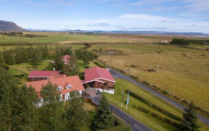 Uitzicht op Hotel Fosshotel Hekla op IJsland