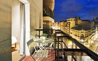 Balkon van Hotel One Shot Colon 46 in Valencia