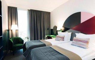 Tweepersoonskamer van Hotel Elite Carolina Tower in Stockholm
