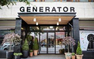 Entree van Hostel Generator in Stockholm