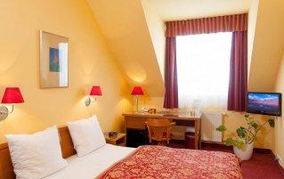 Tweepersoonskamer van hotel Cloister Inn Praag