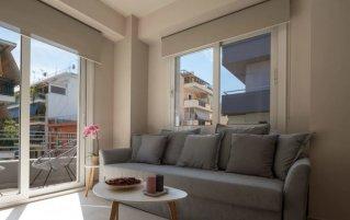 Woonkamer van appartement Keys 12 in Athene