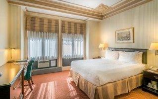 Tweepersoonskamer van hotel Wolcott New York