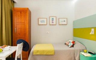 Slaapkamer van Aparthotel Bajamar in Gran Canaria