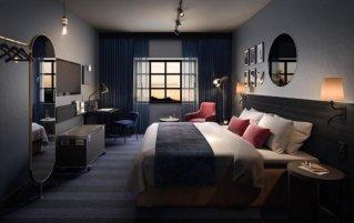 Slaapkamer van Hotel Scandic Falkoner in Kopenhagen
