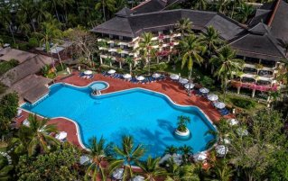 Bovenaanzicht van Hotel Prama Sanur Beach Bali